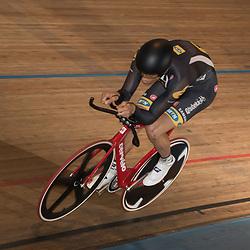 ALKMAAR (NED) baanwielrennen<br /> Op de wielerbaan van Alkmaar streden de wielrenners om de nationale baantitels  <br /> Theo Bos pakt de titel op de kilomter