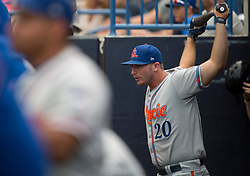 August 10, 2017 - Florida, U.S. - CHARLIE KAIJO   |   Times.St. Lucie Mets designated hitter Peter Alonso (20) prepares to bet during a game against the Tampa Yankees at Steinbrenner Field Tampa, Fla. on Thursday, August 10, 2017. (Credit Image: © Charlie Kaijo/Tampa Bay Times via ZUMA Wire)