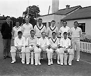 18/07/1970<br /> 07/18/1970<br /> 18 July 1970<br /> Cricket: Clontarf 1st XI v Old Belvedere, Leinster Senior Cup Final at Clontarf Cricket Club, Dublin, The Old Belvedere, team: l-r standing: Gerry Owens, Paul Hanby, Henry Tighe, Alec O'Riordan, Fintan Synnott, George Morgan, Leslie Lloyd<br /> l-r seated: Fred Daly, Kevin O'Riordan, Tim O'Brien (captain), Paddy Tynan, Frank O'Hanlon