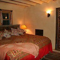 North America, USA, New Mexico, Santa Fe. Suite Room at Inn of FIve Graces