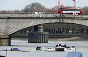 Putney, London,  Tideway Week, Championship Course. River Thames, [L]. OUBC VS CUBC, Veterans Boat Race. <br /> <br />  Saturday  01/04/2017<br /> <br /> [Mandatory Credit; Credit: Peter SPURRIER/Intersport Images.com ]