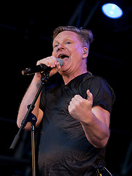 Andy Bell from Erasure performing at Party At The Palace Music Festival in Linlithgow Palace grounds on Sunday 14th August 2016.<br /> <br /> Alan Rennie/ EEm