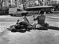 Paris during Covid 19 pandemic.
