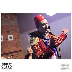 Chris Morley-Hall at the Go Wellington Cuba St Carnival Night Parade at Paramount Theatre, Wellington, New Zealand.