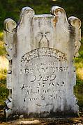 Tombstones in the Jacksonville Cemetery, Jacksonville, Oregon USA