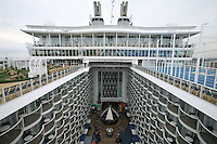 Launch of Royal Caribbean International's newest ship Allure of the Seas..View of the Board Walk.