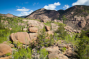 Granite rock formations in the Lost Creek valley, Lost Creek Wilderness, Colorado.
