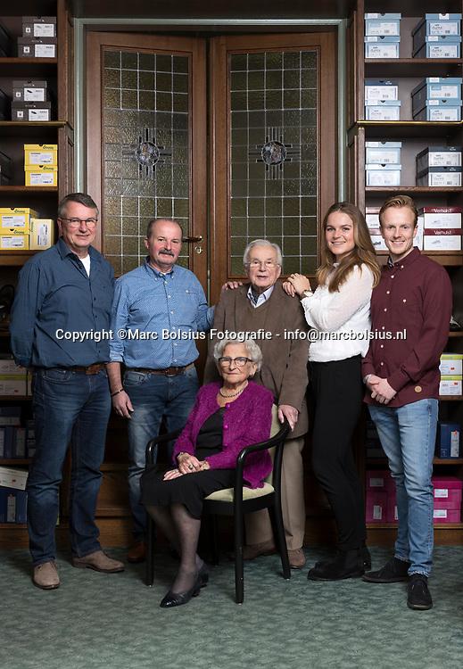 Den Bosch, de familie van schoenen orthopeet Rob Hoskam