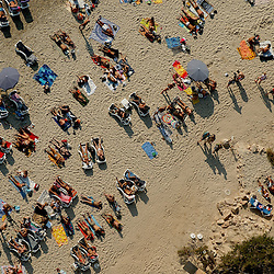 Aerial view of Las Salinas topless beach, Ibiza Spain Aerial views of artistic patterns in the earth.