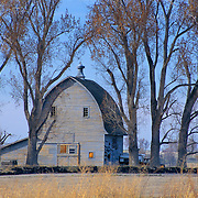 Historic gambrel style barn, built in the 1800s, Canyon County, Idaho