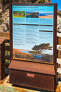 Interpretive sign at Bechers Bay, Santa Rosa Island, Channel Islands National Park, California USA
