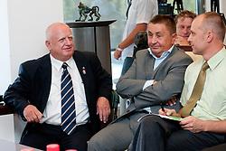 Janez Potocnik, Marco Schulz ter Slavko Kanalec na skupscini Hokejske zveze Slovenije, on September 7, 2011, in Ljubljana, Slovenia. (Photo by Matic Klansek Velej / Sportida)
