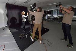 Henk van Cauwenbergh,Karin Boulanger<br /> Foto shoot met Henk van Cauwenbergh voor KBRSF - Zaventem 2018<br /> © Hippo Foto - Dirk Caremans<br /> 01/05/2018