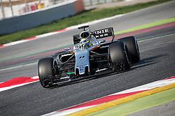 February 27, 2017 - Barcelona, Spain - The Force India of Sergio Perez during the Formula 1 tests held in the Barcelona-Catalunya Circuit, on february 27, 2017. Photo: Jordi Galbany/Urbanandsport/Nurphoto  (Credit Image: © Jordi Galbany/NurPhoto via ZUMA Press)
