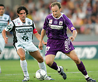 ◊Copyright:<br />GEPA pictures<br />◊Photographer:<br />Martin Parzer<br />◊Name:<br />Rushfeldt<br />◊Rubric:<br />Sport<br />◊Type:<br />Fussball<br />◊Event:<br />T-Mobile Bundesliga, Superfund Pasching vs FK Austria Magna Wien<br />◊Site:<br />Pasching, Austria<br />◊Date:<br />07/08/04<br />◊Description:<br />Michael Baur (Pasching), Sigurd Rushfeldt (Austria)<br />◊Archive:<br />DCSMO-0708044533<br />◊RegDate:<br />07.08.2004<br />◊Note:<br />10 MB - WU/WU