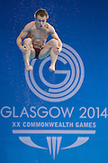 Mcc0055084 . Daily Telegraph<br /> <br /> England's Jack Laugher diving in the Final of the Men's 3m Springboard where he won Silver at the Royal Commonwealth Pool in Edinburgh on Day 8 of the 2014 Commonwealth Games .