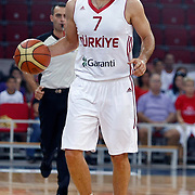 Turkey's Omer ONAN during their Istanbul CUP 2011match played Montenegro between Turkey at Abdi Ipekci Arena in Istanbul, Turkey on 25 August 2011. Photo by TURKPIX