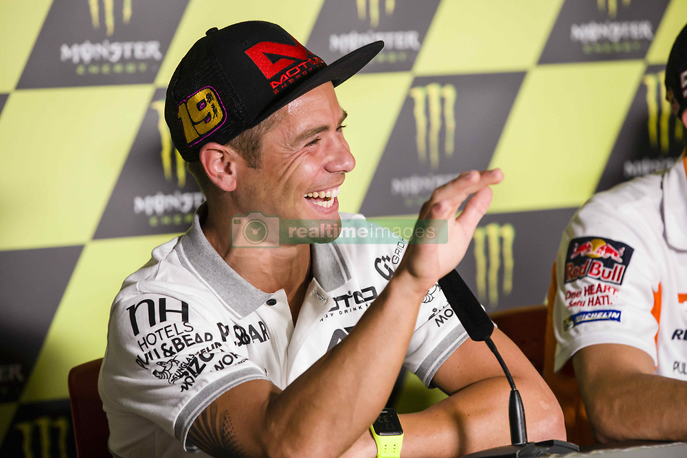 June 8, 2017 - Barcelona, Spain - MotoGP, Alvaro Bautista(Spa), Pull&Bear Aspar Team during the press conference of MotoGp Grand Prix Monster Energy of Catalunya, in Barcelona-Catalunya Circuit, Barcelona on 8th June 2017 in Barcelona, Spain. (Credit Image: © Urbanandsport/NurPhoto via ZUMA Press)