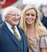 29/07/2017   President Michael D Higgins and Megan Geraghty from Galway on Plate day of the Galway Races.   Photo:Andrew Downes, xposure