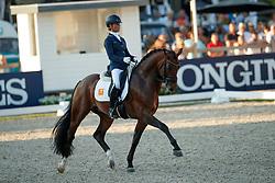 Cornelissen Adeline, NED, Henkie<br /> World ChampionshipsYoung Dressage Horses<br /> Ermelo 2018<br /> © Hippo Foto - Dirk Caremans<br /> 03/08/2018