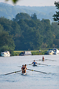 Henley-On-Thames, Berkshire, UK., Wednesday,  12/08/2020,  Athletes, Crews boating from Henley RC.,  for training,  [ Mandatory Credit © Peter Spurrier/Intersport Images], , Training during, the  coronavirus (COVID-19), pandemic,