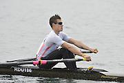 Eton, United Kingdom  GBR LM1X. Michael MOTTRAM, at the start of his time trial men's lightweight single sculls at the 2012 GB Rowing Senior Trials, Dorney Lake. Nr Windsor, Berks.  Saturday  10/03/2012  [Mandatory Credit; Peter Spurrier/Intersport-images]