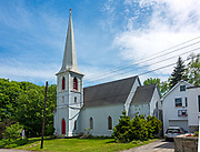 Exterior of St. Matthew and Barnabas, 20 Union St. Hallowell, Maine.