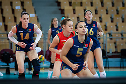 Team of Portugal during warmup before volleyball match between Slovenia and Portugal in CEV Volleyball European Silver League 2021, on 12 of June, 2021 in Dvorana Ljudski Vrt, Maribor, Slovenia. Photo by Blaž Weindorfer / Sportida