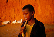 Sheperd boy on the outskirts of Hargeisa in the Self Declared Independent country of Somaliland