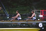 Lucerne, SWITZERLAND. [RDA] DDR M2X, Bow, Uwe  MUND and Uwe<br /> HEPPNER, 1988. Lucerne International Regatta, Lake Rotsee. June 1988 [Mandatory Credit - Peter Spurrier/Intersport Images] 1988 Lucerne International Regatta