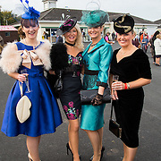 09.10.2016           <br /> Attend the Keanes Jewellers Best dressed competition at Limerick Racecourse were, Mairead O'Driscoll, Sheila O'Driscoll, Ursula Looby, and Nicola O'Driscoll. Picture: Alan Place