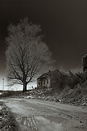 Somewhere in eastern Kentucky, this old farmhouse was literaly and figuratively at the end of the road.