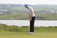 Robert Galligan (Blackrock Collage) on the 7th green during the Final of the Irish Schools Senior Championship at Portstewart Golf Club, Portstewart, Co Antrim on Tuesday 23rd April 2019.<br /> Picture:  Thos Caffrey / www.golffile.ie