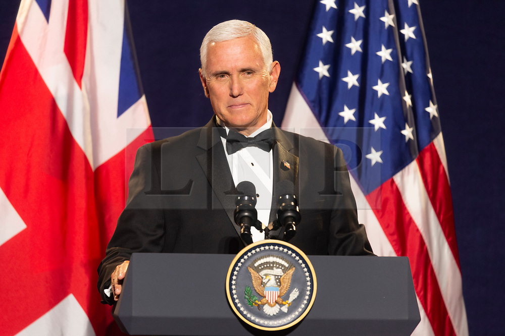 © Licensed to London News Pictures. 05/09/2019. London, UK. US Vice President Mike Pence makes a speech at the International Trade Dinner at Guildhall. Photo credit: Ray Tang/LNP