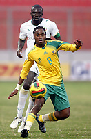 Fotball<br /> Afrika mesterskapet 2008<br /> Foto: DPPI/Digitalsport<br /> NORWAY ONLY<br /> <br /> FOOTBALL - AFRICAN CUP OF NATIONS 2008 - QUALIFYING ROUND - GROUP D - 31/01/2008 - SENEGAL v SOUTH AFRICA - SIPHWE TSHABALALA (SOU) / LAMINE DIATTA (SEN)<br /> <br /> Senegal v Sør Afrika