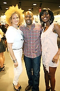 29 July 2010-New York, NY- l to r: Michaela Angela Davis, Tony Everett and Nicole Christie at The H&M and Uptown Magazine Celebration of the grand re-opening of the H&M Harlem Store with a VIP preview with music, food and 25% off the evenings purchases held at H&M harlem on July 29, 2010 in Harlem, New York City. Photo Credit: Terrence Jennings