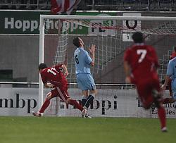 Vauz Franz Burgmeier cele scoring the second goal.<br /> Vaduz 2 v 0 Falkirk FC at the Rheinpark Stadium for their Europa League second-round qualifier against Vaduz in Liechtenstein.<br /> ©2009 Michael Schofield. All Rights Reserved.