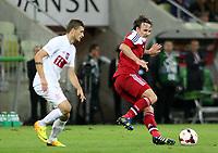14.08.2013, Gdansk ,  Friendly match Poland - Denmark, Mecz Towarzyski Polska - Dania<br /> , Mike Jensen (DEN) , Mateusz Klich (POL)  , FOT. ADAM JASTRZEBOWSKI / FOTO OLIMPIK