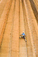 Merridy Rennick climbing at Trout Creek, Oregon.
