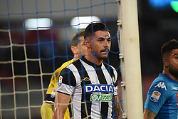 April 18, 2018 - Naples, Naples, Italy - Giuseppe Pezzella of Udinese Calcio during the Serie A TIM match between SSC Napoli and Udinese Calcio at Stadio San Paolo Naples Italy on 18 April 2018. (Credit Image: © Franco Romano/NurPhoto via ZUMA Press)