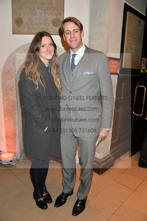 BEN ELLIOT and MARY CLARE ELLIOT at the Fortnum & Mason and Quintessentially Foundation Fayre of St.James's in association with The Crown Estate held at St.James's Church, Piccadilly followed but a reception at Fortnum & Mason, Piccadilly,London on 5th December 2013.