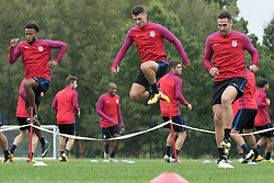 August 29, 2017 - Whippany, NJ, USA - Whippany, NJ - Tuesday August  29, 2017: The USMNT train in preparation for their world cup qualifying match versus Costa Rica at Red Bulls training facility. (Credit Image: © John Dorton/ISIPhotos via ZUMA Wire)