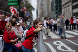 October 8, 2018 - New York, United Stetes - People take part in the 81th Annual Pulaski Day Parade October 7, 2018 in New York City. The parade pays tribute to General Casimir Pulaski, a Polish immigrant who commanded the American cavalry during the Revolutionary War. (Credit Image: © Mohammad Hamja/NurPhoto/ZUMA Press)