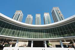 New Marina Square residential and retail development on Al Reem Island in Abu Dhabi United Arab Emirates