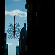 Christmas star on the fifth avenue