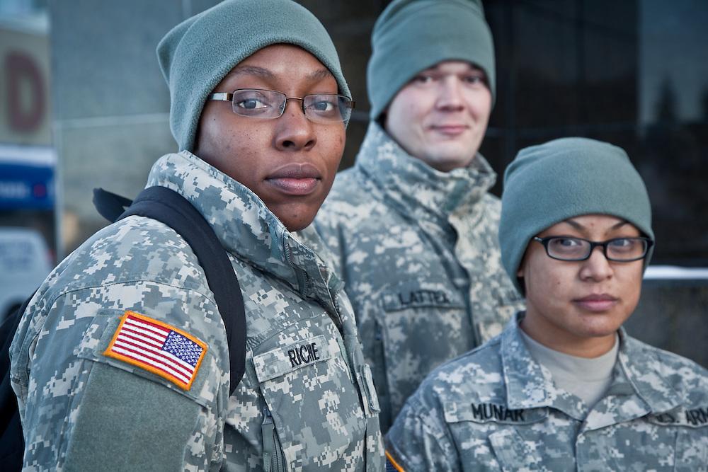 Kayla Richie, Thomas Latten, and Jamie Munar, US Army, Anchorage, Alaska.