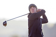 Sean Downes (Royal Dublin) on the 2nd tee during Round 2 of the Ulster Boys Championship at Donegal Golf Club, Murvagh, Donegal, Co Donegal on Thursday 25th April 2019.<br /> Picture:  Thos Caffrey / www.golffile.ie