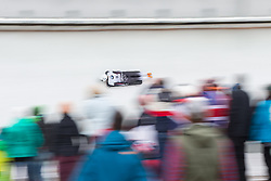 20.02.2016, Olympiaeisbahn Igls, Innsbruck, AUT, FIBT WM, Bob und Skeleton, Damen, Skeleton, 3. Lauf, im Bild Lelde Priedulena (LAT) // Lelde Priedulena of Latvia competes during women Skeleton 3rd run of FIBT Bobsleigh and Skeleton World Championships at the Olympiaeisbahn Igls in Innsbruck, Austria on 2016/02/20. EXPA Pictures © 2016, PhotoCredit: EXPA/ Johann Groder