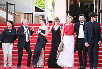 The cast celebrating at the 'Un Chateau En Italie' film gala screening at the Cannes Film Festival Monday 20th May 2013