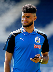 Philip Billing of Huddersfield Town checks his phone before kick off - Mandatory by-line: Matt McNulty/JMP - 16/07/2017 - FOOTBALL - Gigg Lane - Bury, England - Bury v Huddersfield Town - Pre-season friendly